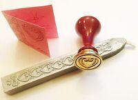LOVE HEART WAX Stamp Seal Kit WEDDING INVITATION CERAMIC STAMP SEALING WAX  SET