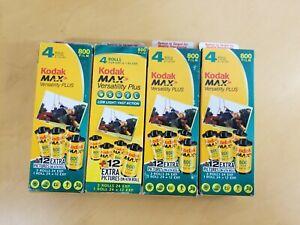LOT OF 4 Kodak Max 800 Zoom 35mm Film 16 Rolls 96 Exposures Each 2007 NEW