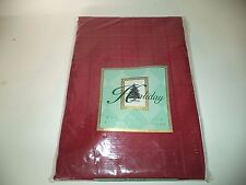 Red Fabric Square Tablecloth Size 52 Inches x 52 Inches