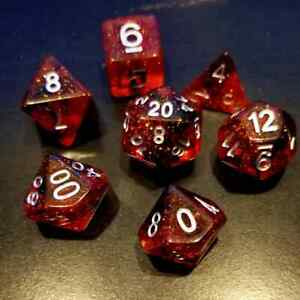 Bloodstone 7 Dice Set Polyhedral RPG DnD Dungeons Dragons Pathfinder d20