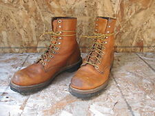 Vtg 80s~ 90s Mens Red Wing Irish Setter Work Sport Boots Sz 10E Brown Leather