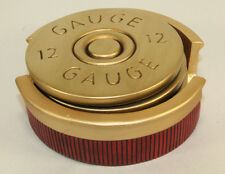 Shotgun Shell Coaster Set - 4 Pc - 12 Gauge Shot Bullet Hunting Cabin Man Room .