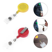 Belt Clip Retractable Pull Keychain ID Lanyard Badge Reel Name Tag Card Holder