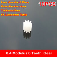 10PCS Plastic Worm Gear fit 2mm motor Shaft //Driving Wheel//Reducer Rod//Car//Boat