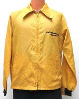 vtg ELDORADO TIRES Racing Windbreaker MED 70s jacket horizon yellow M