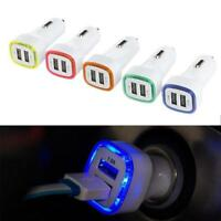 Universal Double USB Port Car Charger LJʌ Adapter For Cell Phones Useful Jʌ