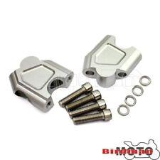 CNC Silver Handlebar Riser Bar Clamp Adapter For Suzuki GSF 1250S 2007-2016 New
