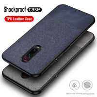 For Xiaomi Mi 9T Pro Redmi K20 Pro Slim Fabric Soft TPU Leather Case Matte Cover