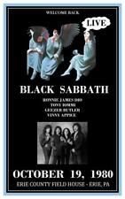Black Sabbath - POSTER - Heaven & Hell LIVE 1980 show - Ronnie James DIO