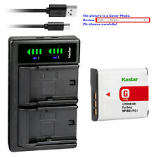 Kastar Battery LTD2 Charger for Sony NP-BG1 NPFG1 Sony Cyber-shot DSC-H50 Camera
