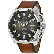 DZ4393 New Genuine DIESEL Heavyweight Chrono Watch On Brown Leather RRP £219