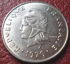 1970 FRENCH POLYNESIA 20 FRANCS IN EF-AU CONDITION