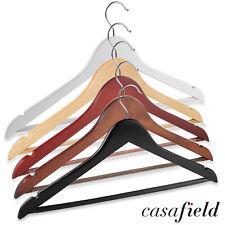 20 Wooden Suit Hangers - Clothes Coats Jackets Dress Pants Shirts Skirts