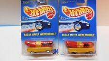 Hot Wheels - 1/64 -  2 cars - Oscar Mayer Wienermobile # 204