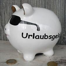 Sparschwein mit Sonnenbrille Urlaubsgeld Keramik Reise Spardose Urlaub Geschenk