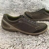 52 Ecco Biom Grip Urbaneering Brown Leather Casual Oxfords Mens Shoes Sz 12