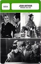 FICHE CINEMA :  JEAN ARTHUR 1935-1953 -  USA (Biographie/Filmographie)