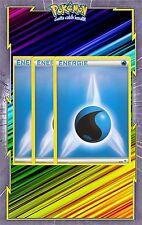 Energie Eau x3 - Cartes Pokemon Neuve Française - NRJ - Bleue