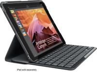 "Logitech iPad Slim Folio Case Bluetooth Wireless Keyboard iPad 9.7"" 5 & 6 Black"
