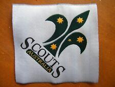 Large SCOUTS AUSTRALIA LOGO badge (rare soft-backed) 16.7cm x 16.7cm (diagonals)