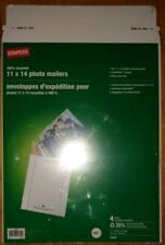 """New listing 28 (7 packs of 4) Staples 11""""x14"""" Photo Mailers 11x14 11 14 11"""" 14"""" QuickStrip"""
