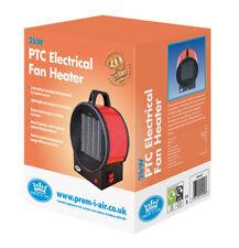 2kW Mini Space heater PTC Electrical Fan Heater with 2 Heat Settings - EH1610