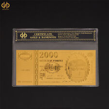 Banknote Paper Money Collecting Gold Banknote Hungary 2000 Forint Euro Bill Note