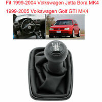 For VW Jetta Bora MK4 99-04/Golf GTI MK4 99-05 5 Speed Gear Shift Knobs Gaiter