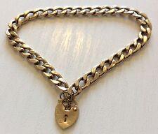 Nice Stamped Vintage 9ct Gold Bracelet With Little Padlock Lovely