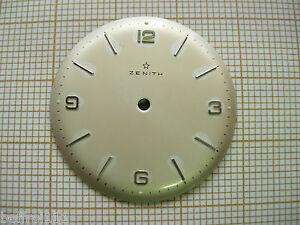 Cadran argenté de montre Zenith 29 mm  vintage Zifferblatt.watch dial 18