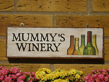 PERSONALISED WINE SIGN MUMMY SIGN DRINKING SIGN HOME BREW WINE MAKING RED WHITE