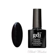 gdi nails Salon Quality UV/LED Soak Off Gel Nail Gel Polish F18 - Black Widow