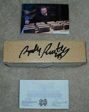 NOTRE DAME FOOTBALL STADIUM BRICK SIGNED BY RUDY RUETTIGER WITH PICTURE AND COA