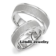 925 STERLING SILVER HIS & HERS MATCHING WEDDING BAND