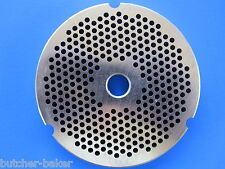 """#32 1/8"""" 3mm STAINLESS Meat Grinder Plate Disc for Hobart 4332 4532 Cabelas more"""