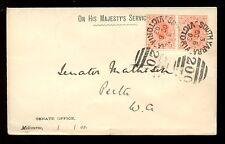 AUSTRALIA VICTORIA 1903 OFFICIAL ENVELOPE MELBOURNE SENATE to MATHISON in PERTH