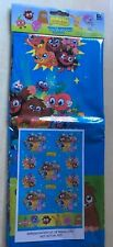 BNIP New Moshi Monsters Blue Table Cover Reusable - Party Paint Baking 138x183cm