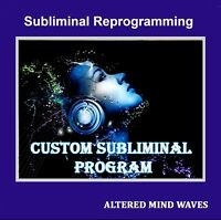 Custom Made Subliminal CD Program - Personalized 30 Minute Subliminal CD