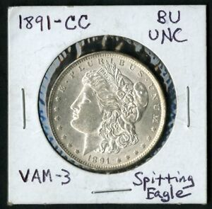 US Coin 1891 CC Key Date Morgan Silver Dollar Spitting Eagle Variety NO RESERVE!