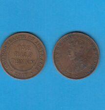 § Australie  Australia  Bronze Coin Georges V One Half Penny Bronze 1917