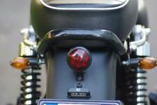 faretto moto NERO a LED fanale fanalino posteriore bates in metallo OMOLOGATO