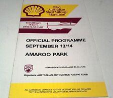 Sept 1986 SHELL MILEAGE MARATHON -  AMAROO PARK Programme