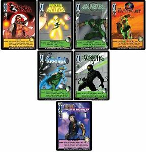 1x Sentinels VILLAINS of the Multiverse: Character Promo Pack(Set of 7)(Chrono-R