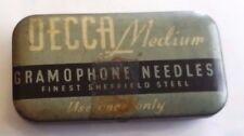 Gramophone needles DECCA MEDIUM scatolina con puntine da grammofono      11/16