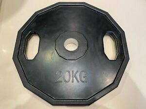 "20kg Rubber Hex Olympic Bumper Weight Plate 2"" Polygonal Gym Weight Lifting"