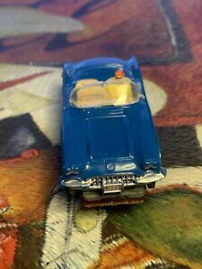 aurora slot cars vibrator 60 corvette blue nice chassis test run fine see pic