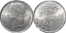 1951 Belgium 1 Franc Copper Nickel World Coin KM143.1  UNC