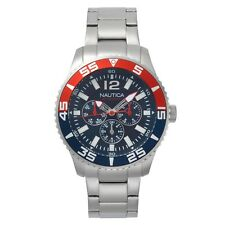 Nautica White Cap Multifunction Stainless Steel Box Set Mens Watch NAPWHC002