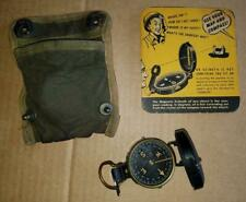 WW2 ERA US GI ENGINEERING COMPASS W. & L.E. GURLEY, POUCH, INSTRUCTION BOOKLET