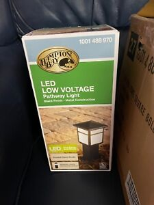4 NIB Hampton Bay Square Bollard Low Voltage LED Pathway Light